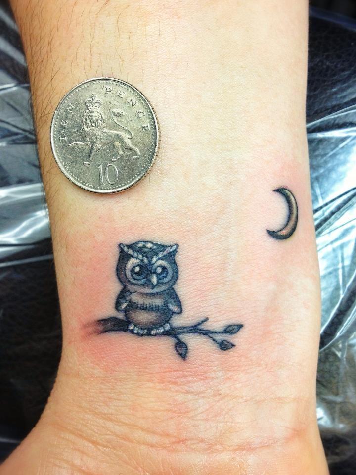 Small cute owl tattoos - photo#8